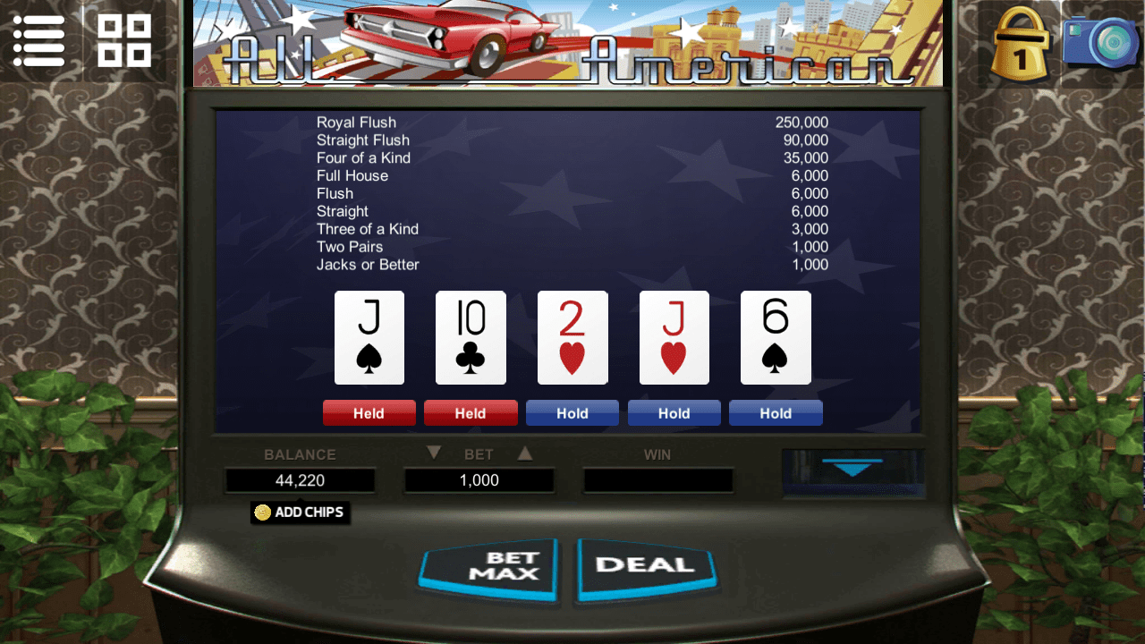 Videopoker - All American